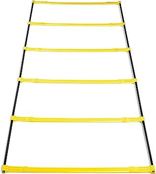 SKLZ Elevation Ladder Herramienta para coordinación y obstáculos, Unisex, Amarillo, 2,1 m: Amazon.es: Deportes y aire libre