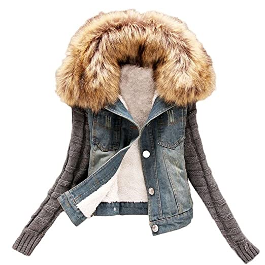 71UfpLJiDYL. UX522  - 3 Forever In-Style Jacket Jeans With The Fur