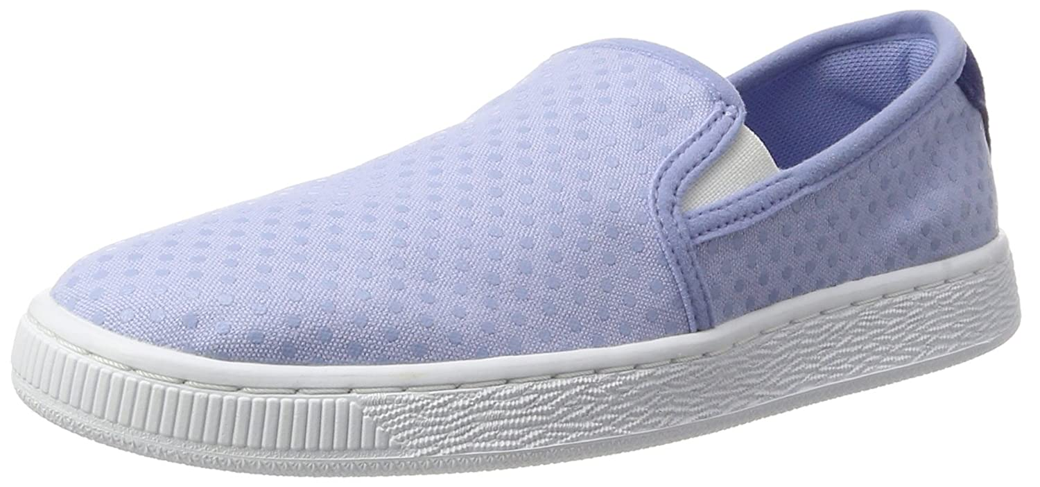 Puma Basket Slip on Denim Wn's Scarpe da Ginnastica Basse Donna Blu