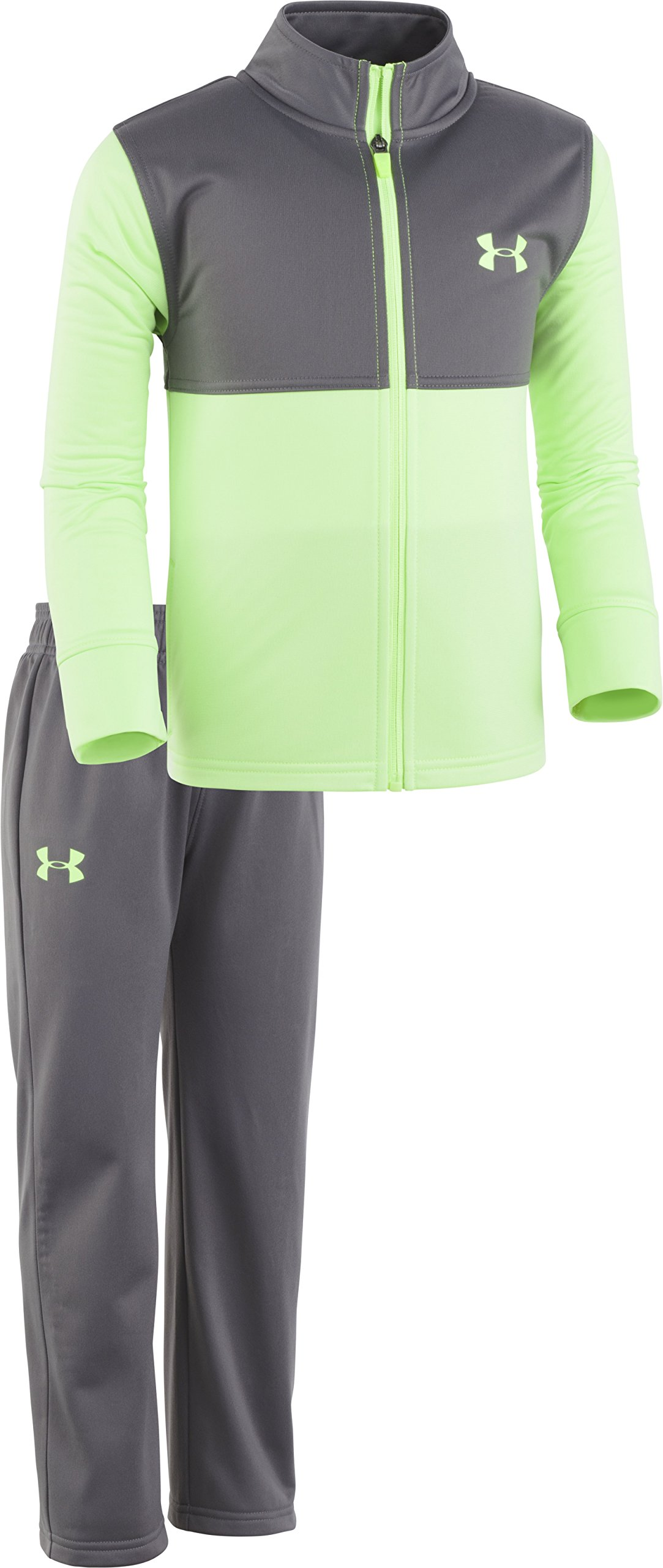 Under Armour Boys' Little Legend Track Set, Quirky Lime 4