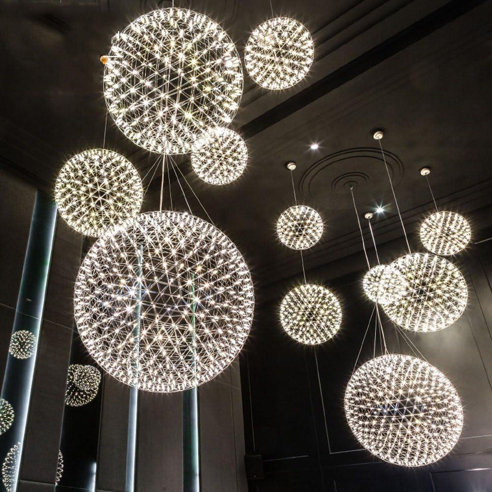 LED Fireworks Spark Ball Postmodern Ceiling Light//Chandelier Creative Living Room Bedroom Hotel Restaurant Bathroom Chandeliers Home Illumination Ceiling Chandeliers Color : 25cm-Warm Light