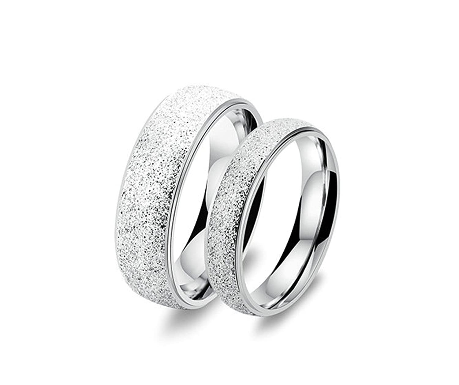 Amazon Com Bishilin Fashion Jewelry 2 Pieces Stainless Steel Couple