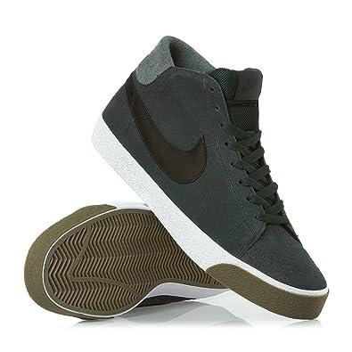 Nike Blazer Mid LR Shoes - Seaweed, Black and Gum Dark Brown 9