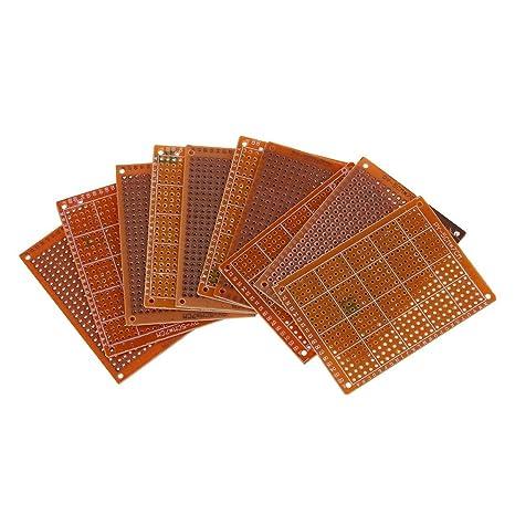 TOOGOO(R) Clasico 10pzs PCB prototipo terminado soldadura para placa de circuito Tablero de