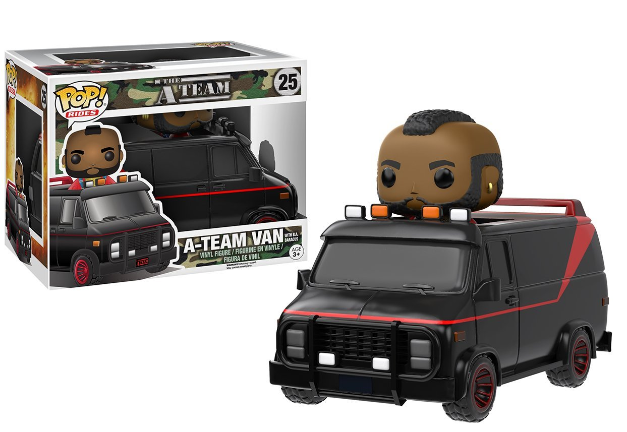 Amazon Funko POP Ride A Team Van With BA Baracus Action Figure Pop Toys Games