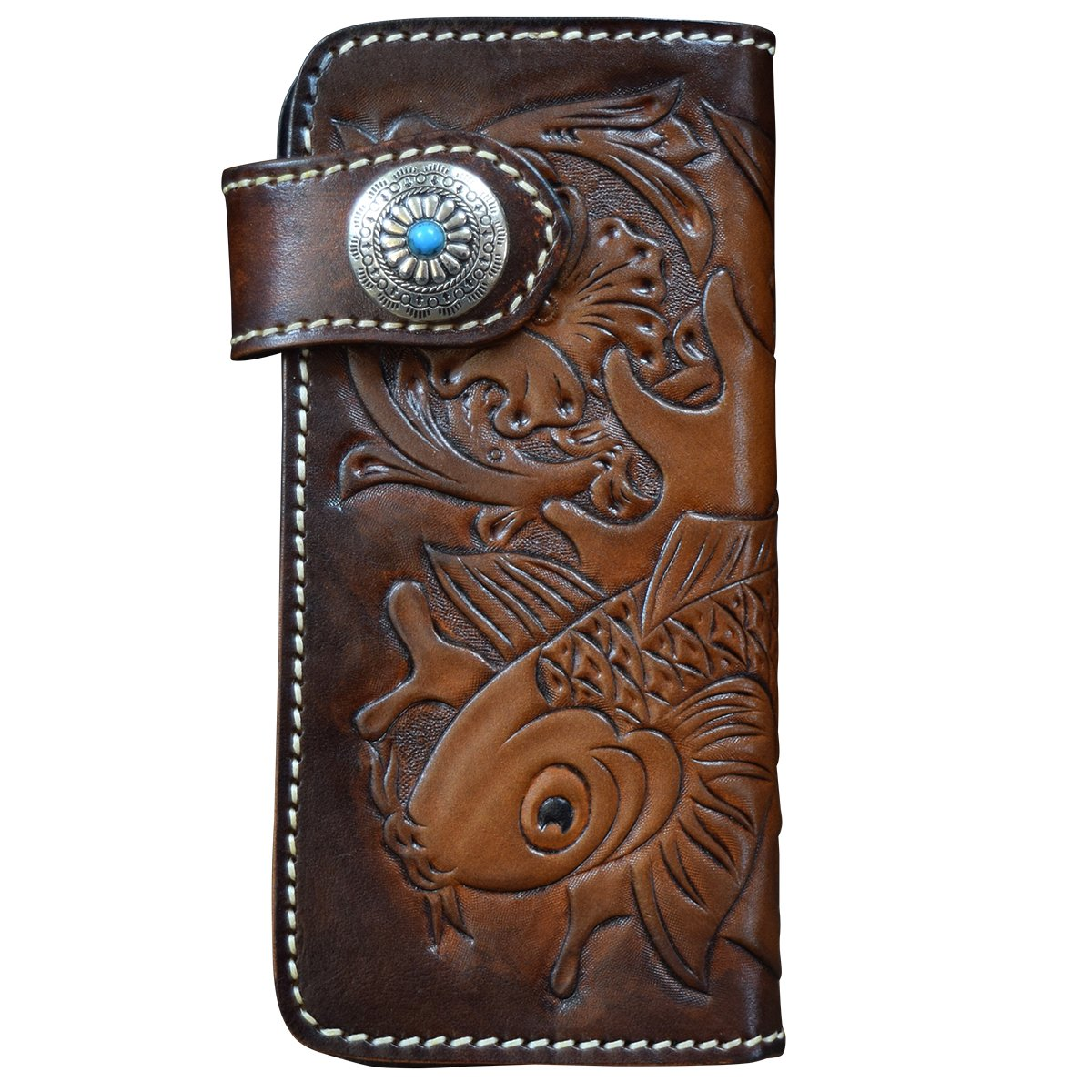 OLG.YAT Vegetable tanned leather Retro Genuine Leather Men's Wallets WL12JL by OLG.YAT