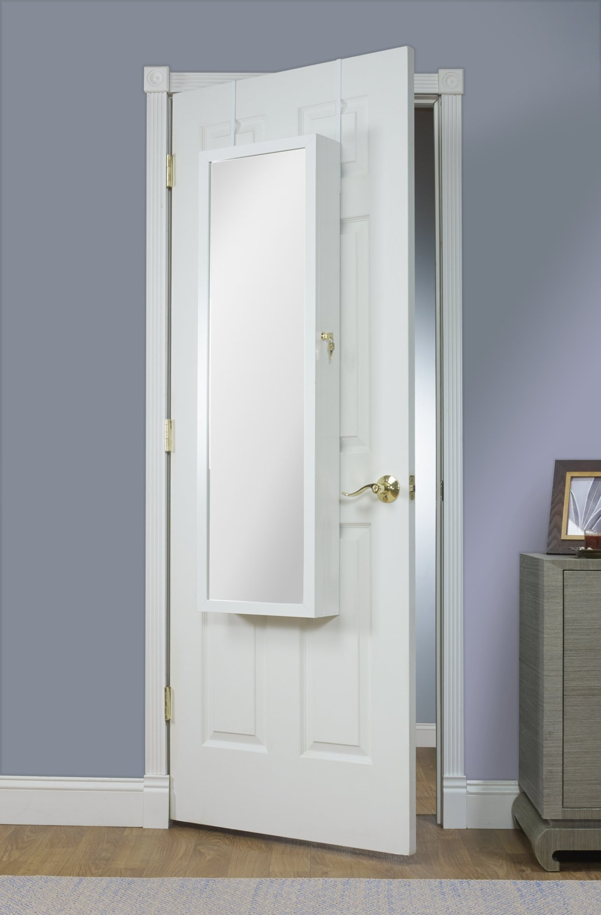 Mirrotek Over The Door Combination Jewelry and Makeup Armoire, White by Mirrotek (Image #3)
