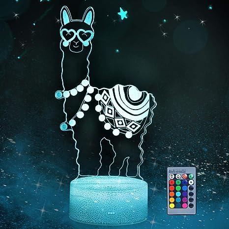 Llama 3D Night Light