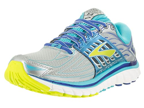 b720e3ec04401 Brooks Women s Glycerin 14 Silver Blue Atoll Lime Punch Sneaker 7 B (M)   Buy Online at Low Prices in India - Amazon.in
