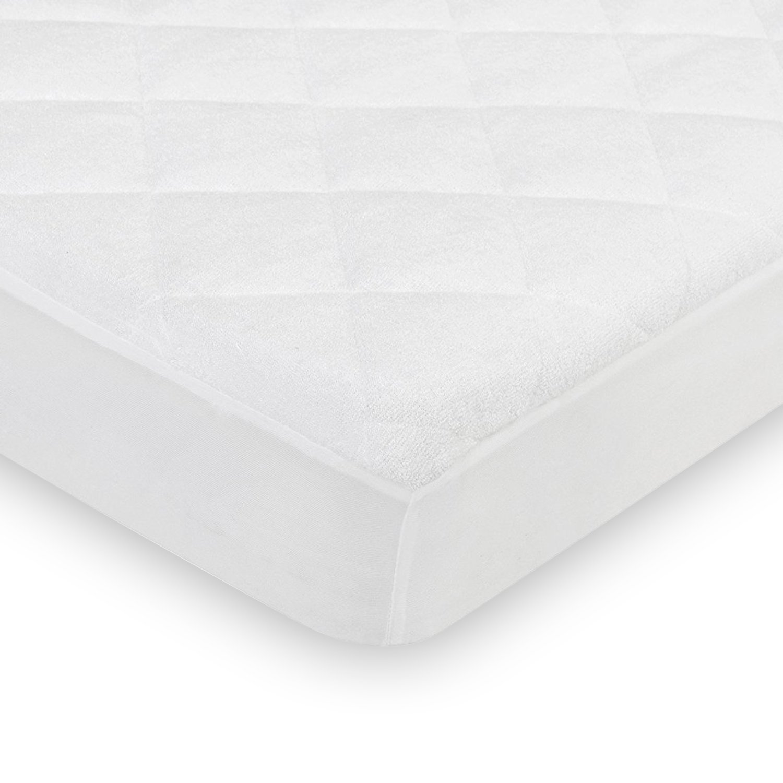 Homfa Crib Mattress Cover Baby Waterproof Breathable Cot Bed Mattress Protector 70 * 140+18 HF