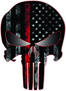 """Nostalgia Decals American Punisher First Responders Decal (3"""" x 2"""")"""