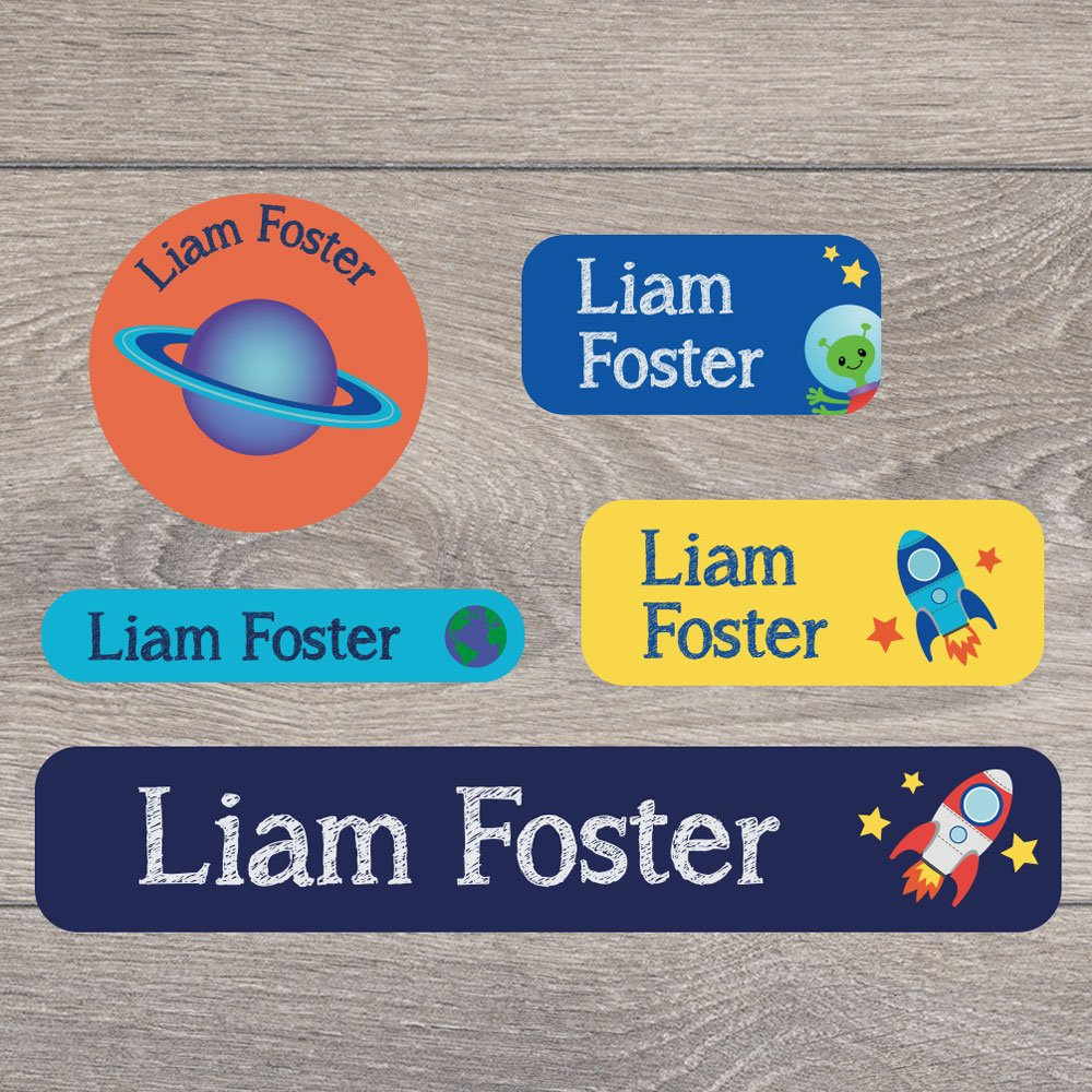 stationary A range of designs to choose from Perfect for labelling uniforms 171 Iron on and stick on name label pack for children tupperware