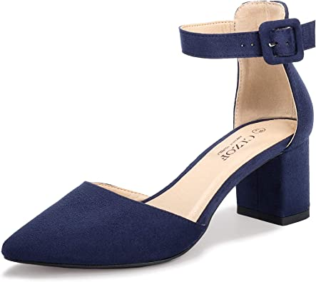 Ankle Strap Shoes Low Heel