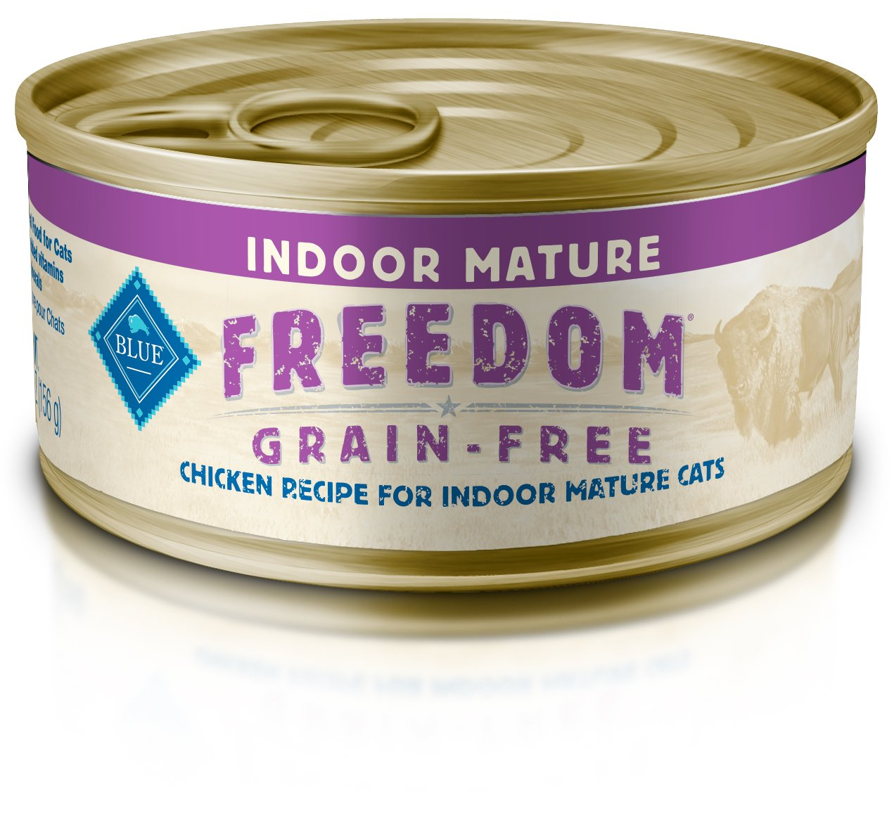 Blue Freedom Mature Pate Indoor Grain Free Chicken Wet Cat Food 5.5-Oz (Pack Of 24) by Freedom by Blue Buffalo