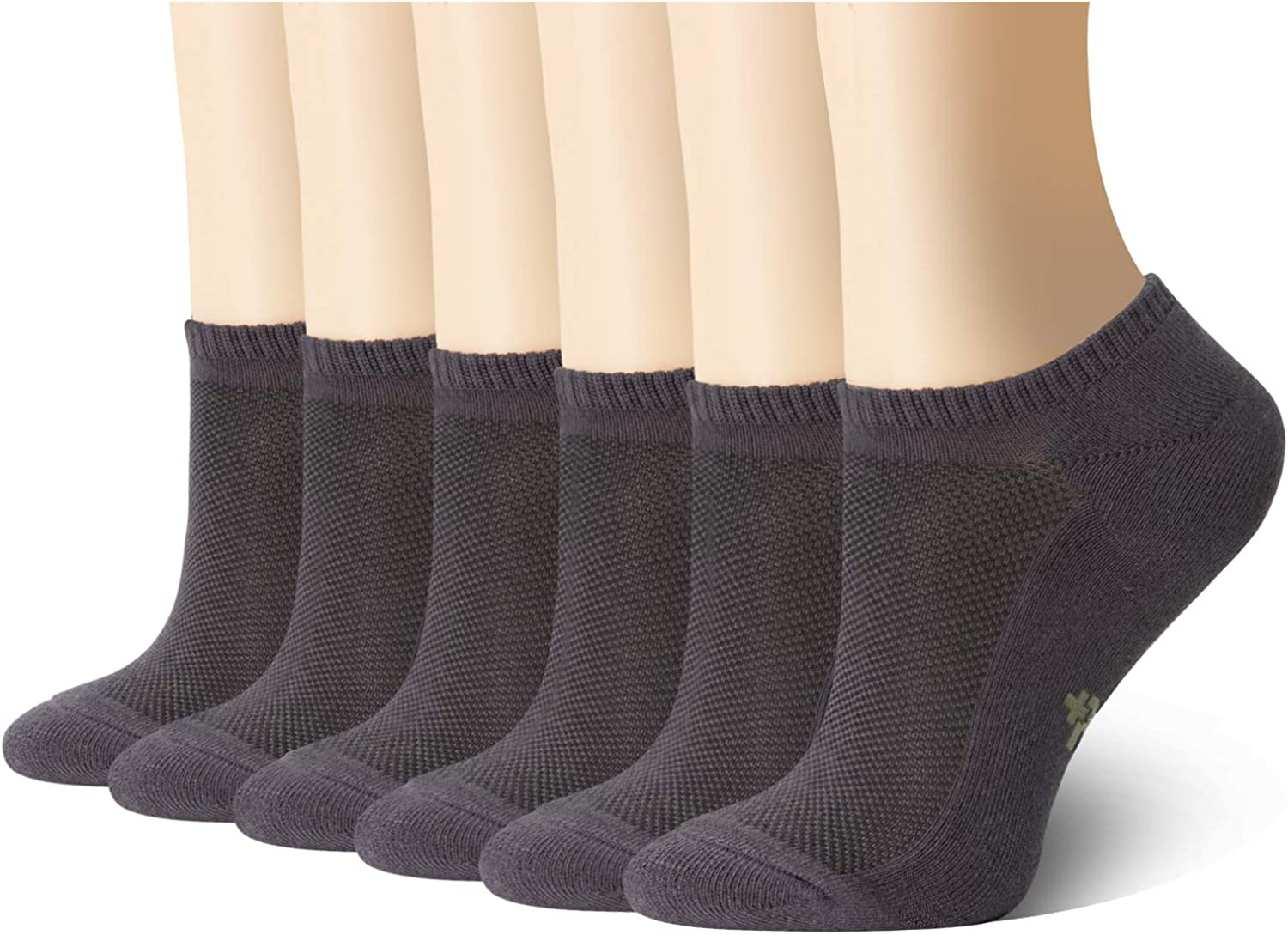 MD Ultra Soft Athletic Bamboo Socks for Women and Men with Hidden Seam Toe No Show Casual Socks 6 Pack