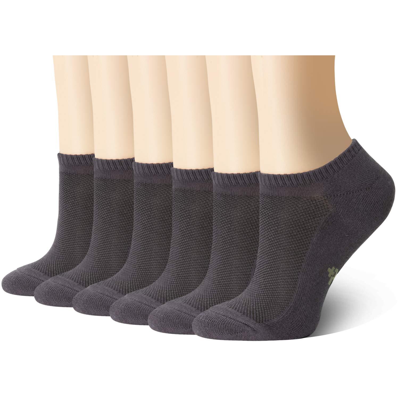 +MD 6 Paia di Calze bamb/ù Sportive per uomo e donne con punta invisibile per cucitura No Show Casual antiscivolo