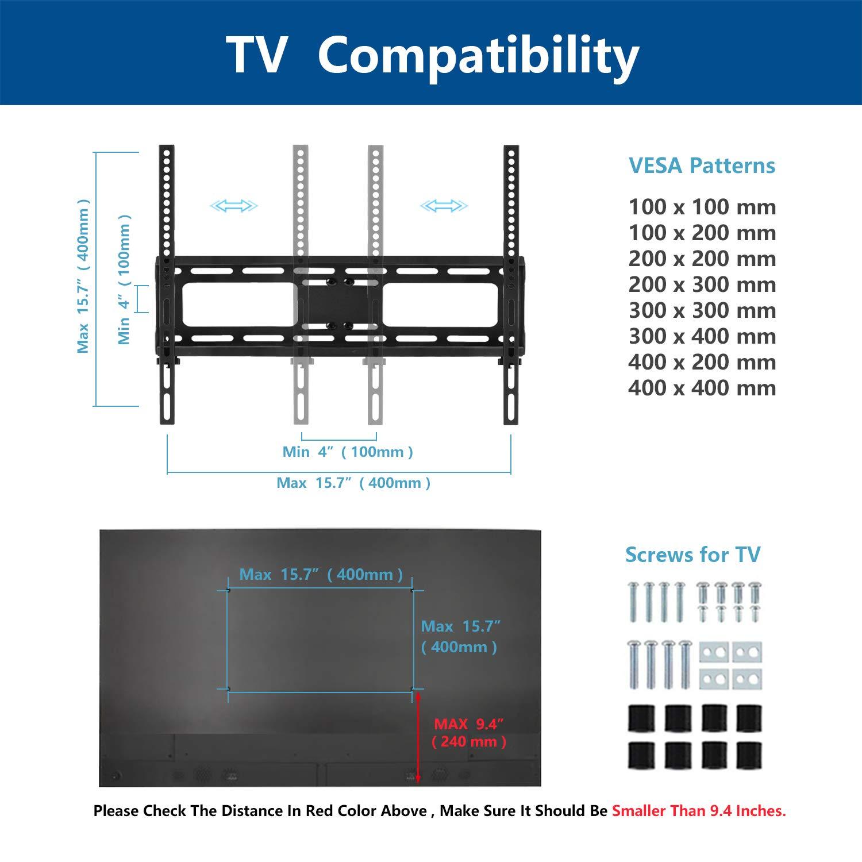 RFIVER Soporte Giratorio de Mesa para TV de Pantalla Plana de 32 a 50 Pulgadas UT1002