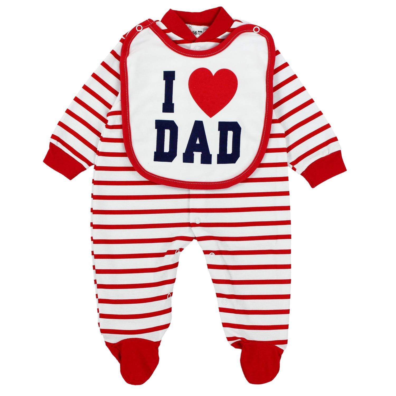 TupTam Unisex Baby Schlafstrampler mit Spruch I Love Mum Dad