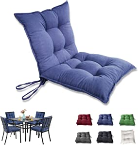 INRLKIT Patio Cushions Outdoor Chair Seat Pads 19x19x5 Inch Water-Resistant Filled Pearl Cotton, Dark Blue