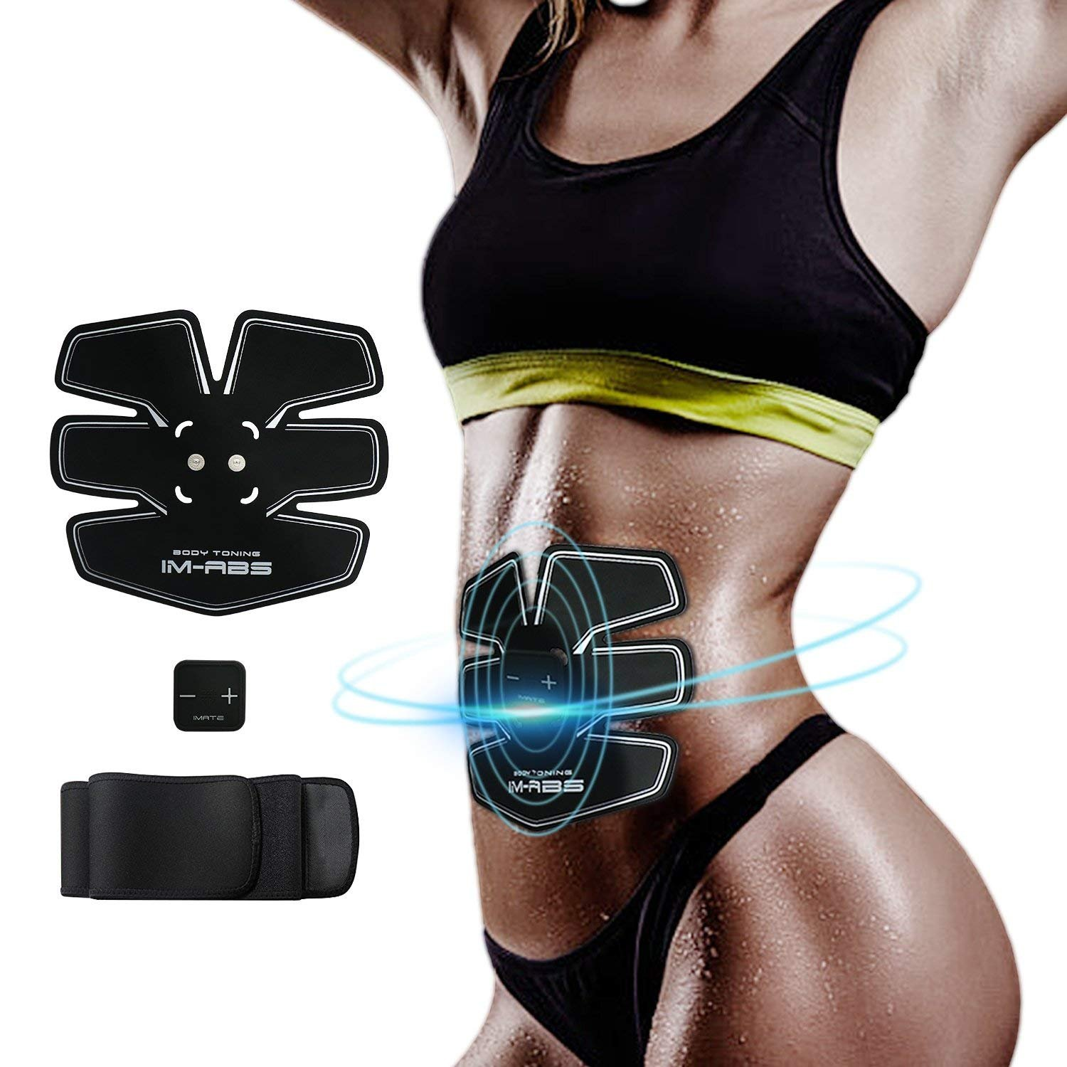 a437dd9c42 IMATE Abdominal Muscle Trainer EMS Abs Trainer Muscle Stimulator Ab Toning Belt  Waist Trainer Belly Support Belt Gym Training Exercise Machine Home Fitness  ...