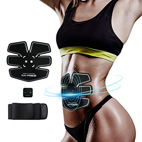 57c09c5fbb IMATE Abdominal Muscle Trainer EMS Abs Trainer Muscle Stimulator Ab Toning  Belt Waist Trainer Belly Support Belt Gym Training Exercise Machine Home  Fitness ...