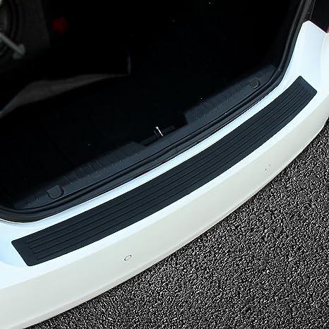 Car Rear Bumper Guard Protector Trim Cover Sill Plate Trunk Rubber Pad Kit New