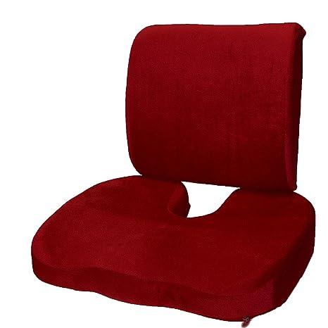 Amazon.com: Conjunto de 2: Cojín de asiento para el coxis ...