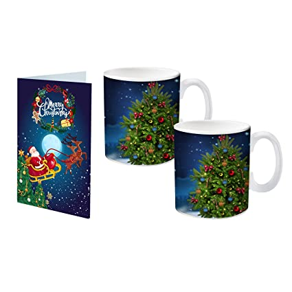 Buy Archies Christmas Printed Ceramic Mug With Greeting Card Online At Low Prices In India