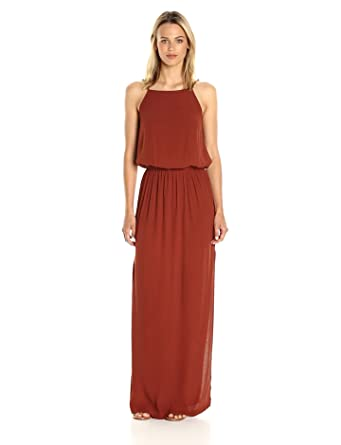 3461e07979 Amazon.com  Monrow Women s Square Neck Maxi Dress  Clothing