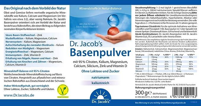 Alkaline Formula (300g) by Dr. Jacobs: Amazon.es: Salud y cuidado personal