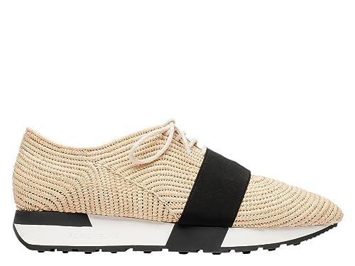 Balenciaga Mujer 410938W02n1 Beige Lona Zapatillas: Amazon.es: Zapatos y complementos