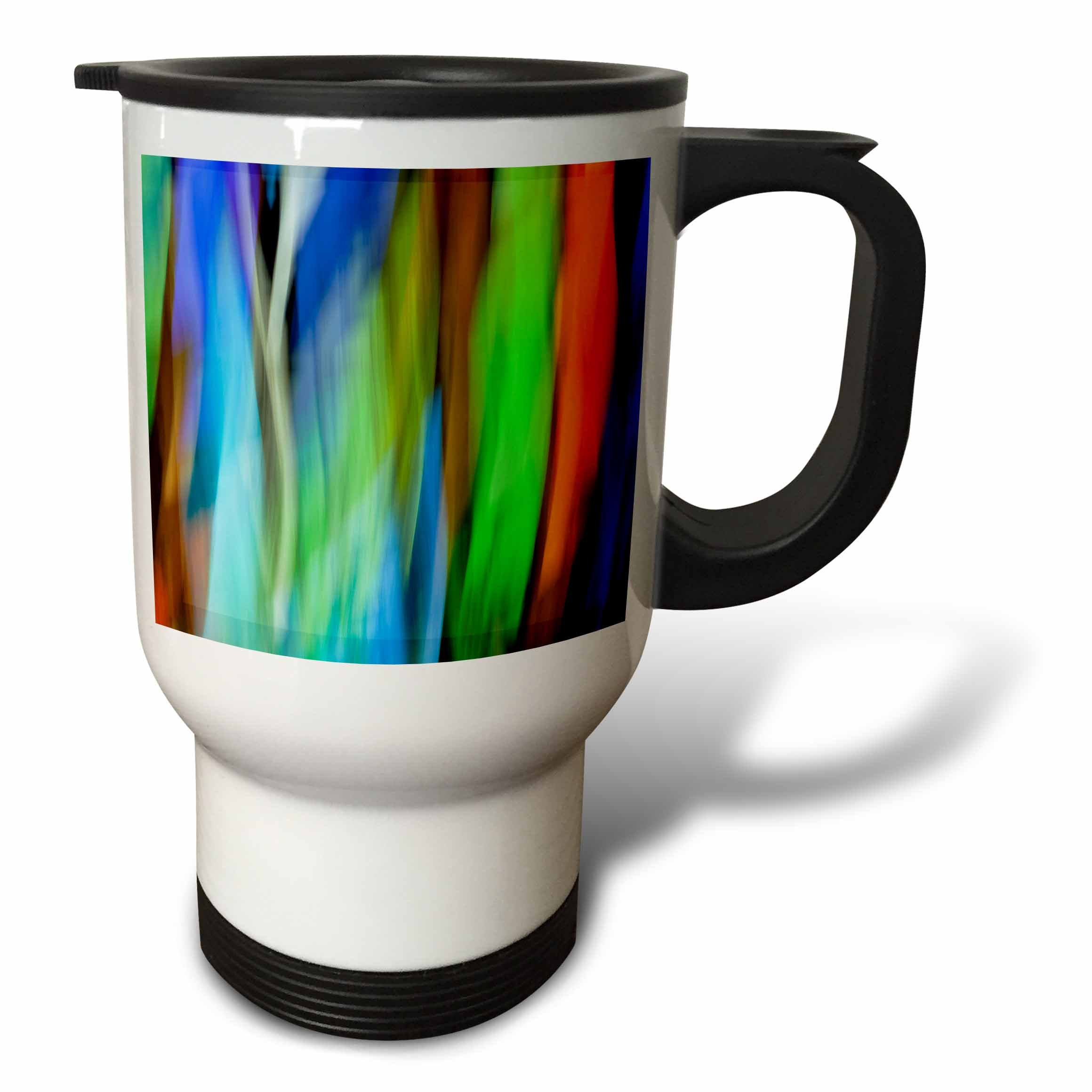 3dRose Danita Delimont - Abstracts - A motion blur of a stain glass window. - 14oz Stainless Steel Travel Mug (tm_276400_1)