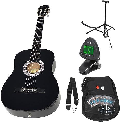 Guitarra clásica concierto completa con accesorios. Calidad ...