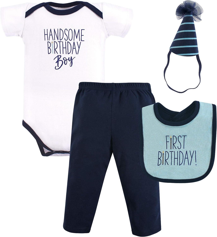 Hudson Baby Unisex Baby Birthday Boxed Giftset, Handsome boy, 12 Months