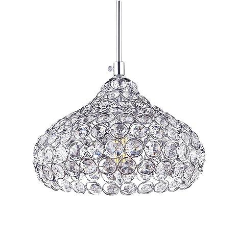 Iluminación Colgante,Fy-Light Estilo moderno K9 Crystal Flush Mount 1 Light Cup Pantalla Techo Candelabros para comedor, dormitorio, sala, ...