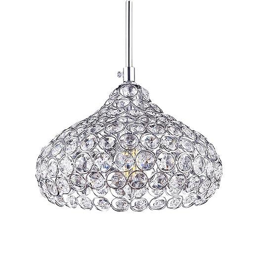 Lámpara de techo LED, de cristal, moderna I Casquillo LED E14 I – Lámpara de techo tipo araña I Para oficina, salón, dormitorio, habitación de los ...
