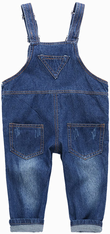 Toddler Baby Boys Girls Dungarees Denim Jeans Bib Overalls Jumpsuit