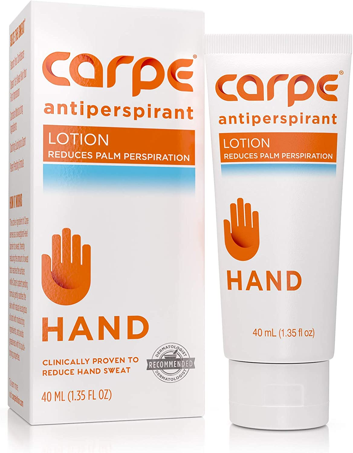 Carpe Antiperspirant Hand Lotion, A dermatologist-recommended, non-irritating, smooth lotion that helps stops hand sweat, Great for hyperhidrosis : Beauty