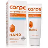 Carpe Antiperspirant Hand Lotion, A dermatologist-recommended, non-irritating, smooth lotion that helps stops hand sweat…