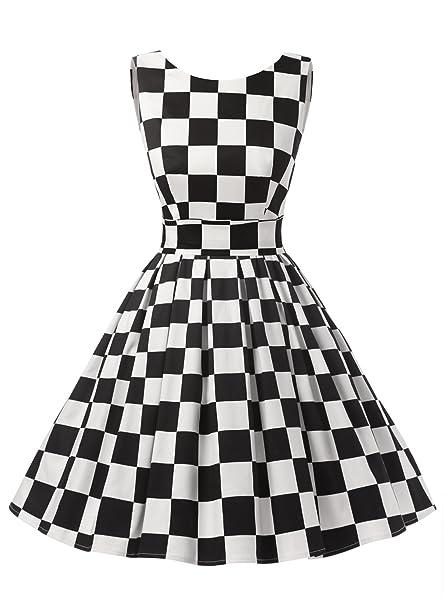 Dressystar - Vestido vintage de los '50, para fiesta Retro Swing, estilo