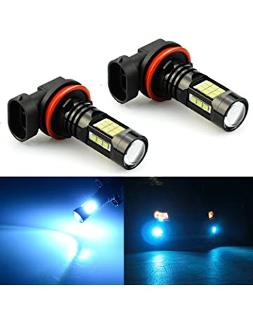 JDM ASTAR 2400 Lumens Extremely Bright PX Chips H11 H8 H16 LED Fog Light Bulbs for