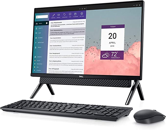 "Dell Inspiron 24 5490 Touch All in One 2TB SSD 64GB RAM Win 10 Pro (Intel 10th Gen Processor Turbo Boost to 4.10GHz, 64 GB RAM, 2 TB SSD, 24"" Touchscreen FullHD IPS, Win 10 Pro) PC Desktop Computer | Amazon"