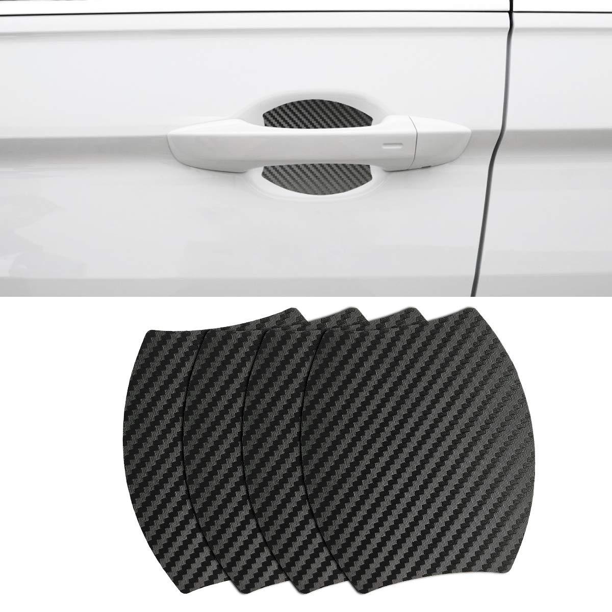 MLING 4 Pezzi Magnetico Auto Porta Maniglia Protettore Anti Graffio Protettive Adesivi Copertina per Tiguan 2017 2018