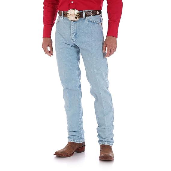 31a72e88 Image Unavailable. Image not available for. Colour: Wrangler Men's Cowboy  Cut Original Fit Jean, Gold Buckle Bleach ...