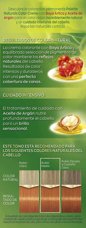 Schwarzkopf Palette Naturals Color Creme - Tono 8.77 cabello Cobrizo Intenso (Pack de 5) - Coloración Permanente – Perfecta cobertura de canas – ...