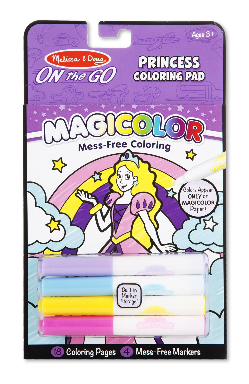 18 Pages Melissa /& Doug On the Go Magicolor Coloring Pad Princess