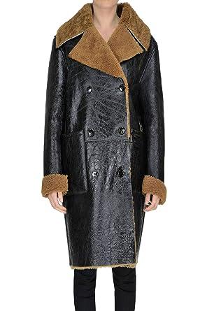 GOLDEN GOOSE EZGL041011 Mujer Negro Cuero Abrigo: Amazon.es: Ropa y accesorios