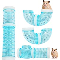 WishLotus Hamster Tubes, Adventure External Pipe Set Transparent Material Hamster Cage & Accessories Hamster Toys to…