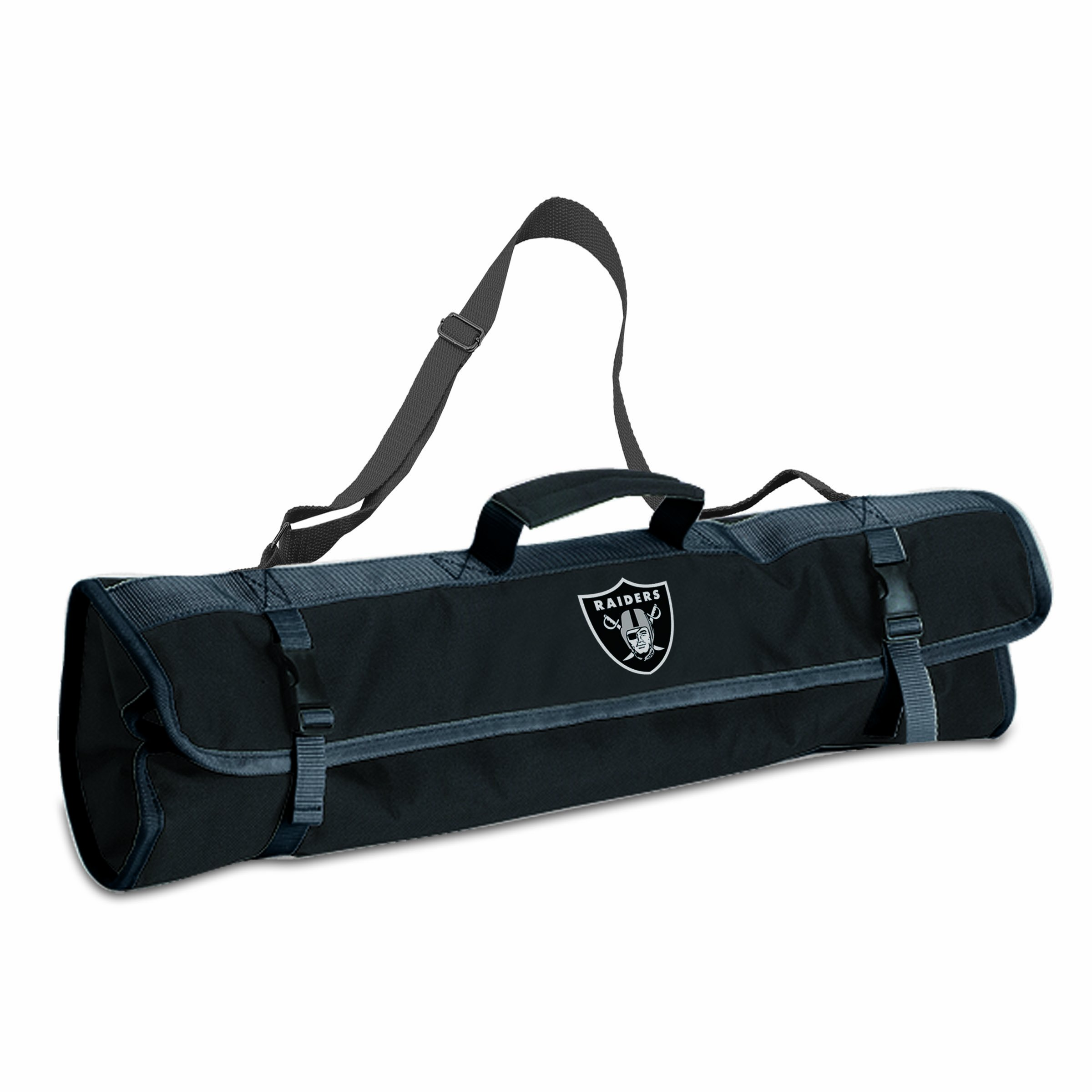 PICNIC TIME NFL Oakland Raiders 3-Piece BBQ Tool Tote