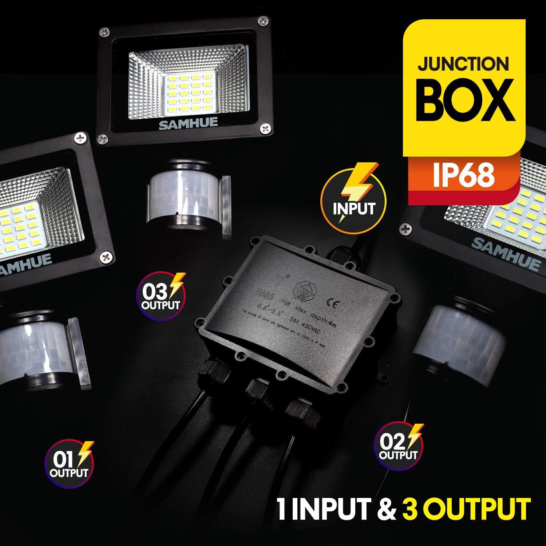 Conector de cable exterior para caja de conexiones impermeable IP68 4 Acoplador de manguito externo SAMHUE /Ø 4mm-14mm